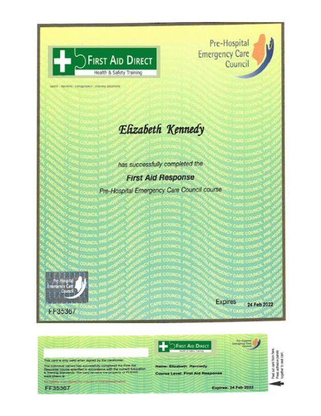 First Aid Response (& Refresher) Cert-page-001